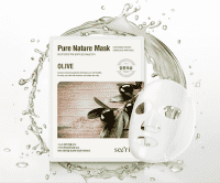 Маска для лица тканевая на основе масла Оливы Secriss Pure Nature Mask Pack-Olive 25мл