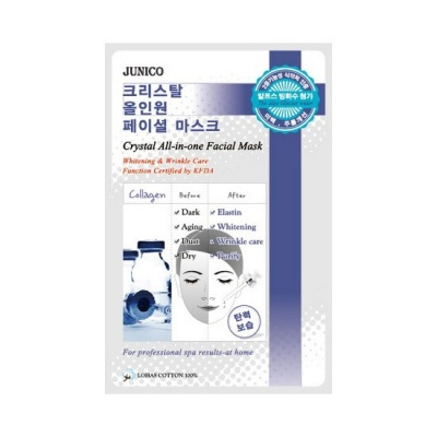 Deoproce - купить Маска тканевая c коллагеном Mijin Junico Crystal All-in-one Facial Mask Collagen, 24 мл на Deoprocemarket.ru