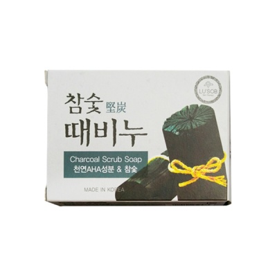 Deoproce - купить Мыло-скраб с экстрактом древесного угля DongBang Charcoal Stain Remover Soap, 100гр на Deoprocemarket.ru